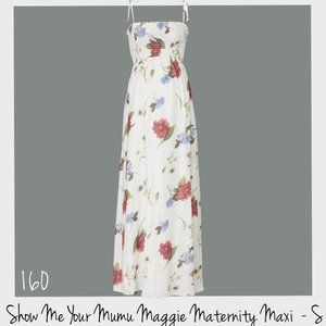 Show Me Your MuMu Maggie Maternity Maxi Dress S